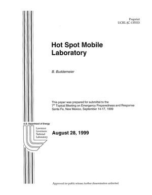 Primary view of object titled 'Lawrence Livermore National Laboratory hot spot mobile laboratory'.