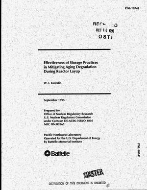 Primary view of object titled 'Effectiveness of storage practices in mitigating aging degradation during reactor layup'.