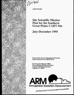 Primary view of object titled 'Site scientific mission plan for the southern great plains CART site, July--December 1995'.