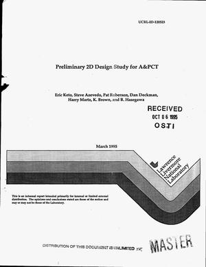 Primary view of object titled 'Preliminary 2D design study for A&PCT'.
