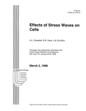 Primary view of object titled 'Effects of stress waves on cells'.