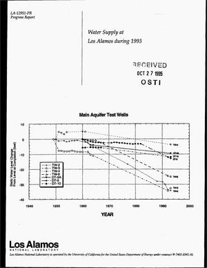 Primary view of object titled 'Water supply at Los Alamos during 1993. Progress report'.