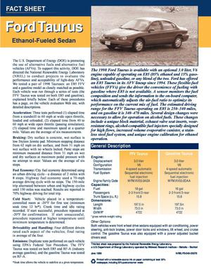 Primary view of object titled 'Ford Taurus Ethanol-Fueled Sedan'.
