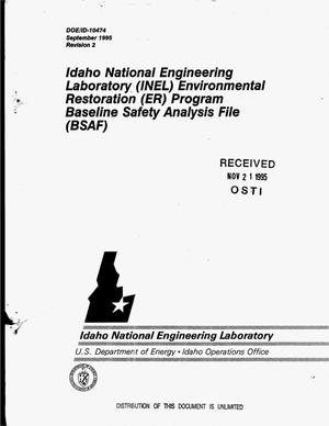 Primary view of object titled 'Idaho National Engineering Laboratory (INEL) Environmental Restoration (ER) Program Baseline Safety Analysis File (BSAF)'.