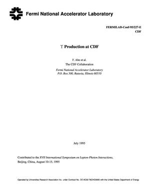 Primary view of object titled 'γ Production at CDF'.