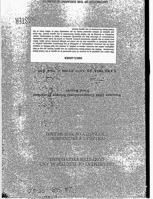 Primary view of object titled 'Summer 1994 Computational Science Workshop. Final report'.
