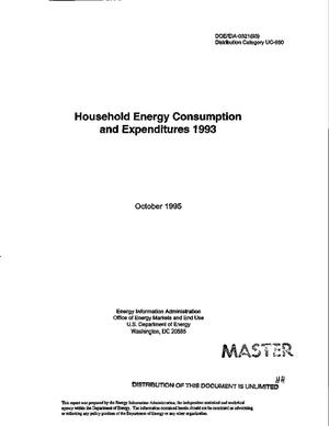 Primary view of object titled 'Household energy consumption and expenditures 1993'.