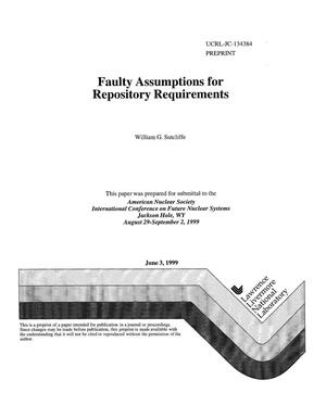 Primary view of object titled 'Faulty assumptions for repository requirements'.