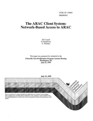 Primary view of object titled 'The ARAC client system: network-based access to ARAC'.