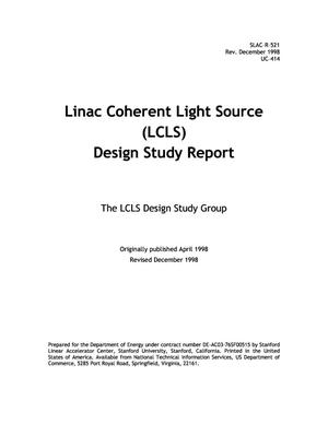 Primary view of object titled 'Linac Coherent Light Source (LCLS) Design Study Report'.