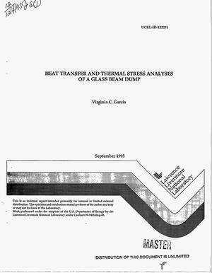 Primary view of object titled 'Heat transfer and thermal stress analysis of a glass beam dump'.