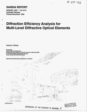 Primary view of object titled 'Diffraction efficiency analysis for multi-level diffractive optical elements'.