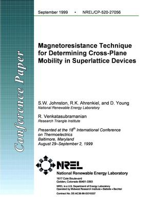 Primary view of object titled 'Magnetoresistance Technique for Determining Cross-Plane Mobility in Superlattice Devices'.