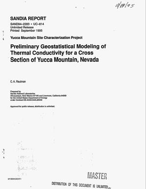 Primary view of object titled 'Preliminary geostatistical modeling of thermal conductivity for a cross section of Yucca Mountain, Nevada'.