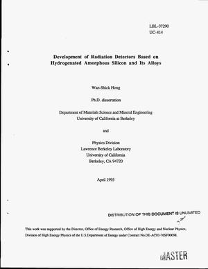 Primary view of object titled 'Development of radiation detectors based on hydrogenated amorphous silicon and its alloys'.