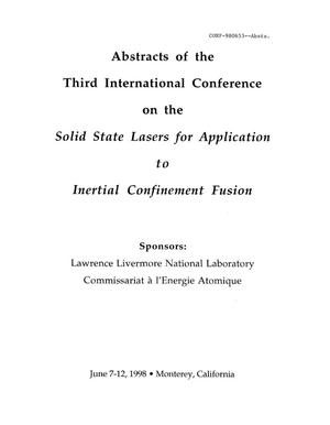 Primary view of object titled 'Abstracts of the third international conference on the solid-state lasers for application to inertial confinement fusion'.