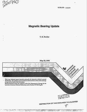 Primary view of object titled 'Magnetic bearing update'.