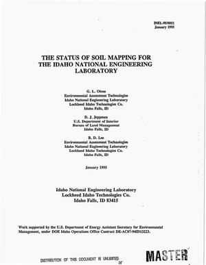 Primary view of object titled 'The status of soil mapping for the Idaho National Engineering Laboratory'.