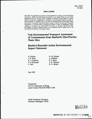 Primary view of object titled 'Unit environmental transport assessment of contaminants from Hanford`s past-practice waste sites. Hanford Remedial Action Environmental Impact Statement'.
