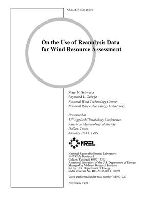 Primary view of object titled 'On the Use of Reanalysis Data for Wind Resource Assessment'.