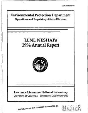 Primary view of object titled 'LLNL NESHAPs Project 1994 Annual Report'.