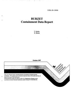 Primary view of object titled 'BURZET containment data report'.
