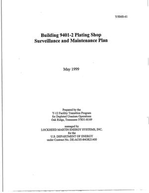Primary view of object titled 'Building 9401-2 Plating Shop Surveillance and Maintenance Plan'.