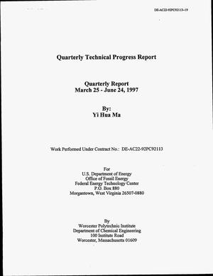 Primary view of object titled 'Quarterly Technical Progress Report'.
