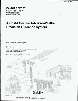 Primary view of object titled 'A cost-effective adverse-weather precision guidance system'.