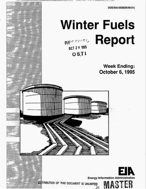 Primary view of object titled 'Winter fuels report, week ending October 6, 1995'.