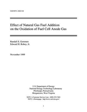 Primary view of object titled 'Effect of Natural Gas Fuel Addition on the Oxidation of Fuel Cell Anode Gas'.