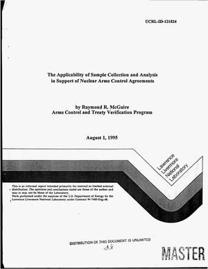 Primary view of object titled 'The applicability of sample collection and analysis in support of nuclear arms control agreements'.