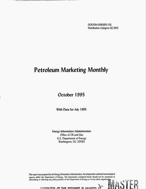 Primary view of object titled 'Petroleum marketing monthly, October 1995 with data for July 1995'.