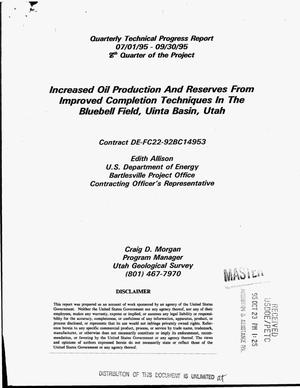 Primary view of object titled 'Increased oil production and reserves from improved completion techniques in the Bluebell Field, Uinta Basin, Utah. Quarterly technical progress report, July 1, 1995--September 30, 1995'.