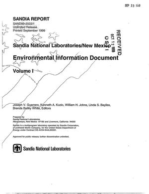 Primary view of object titled 'Sandia National Laboratories/New Mexico Environmental Information Document - Volume 1'.