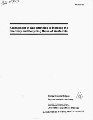 Primary view of object titled 'Assessment of opportunities to increase the recovery and recycling rates of waste oils'.