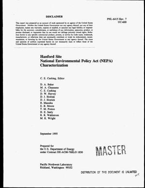 Primary view of object titled 'Hanford Site National Environmental Policy Act (NEPA) characterization. Revision 7'.