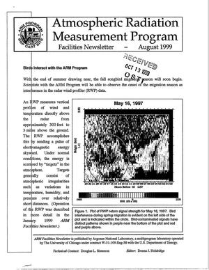 Primary view of object titled 'Atmospheric radiation measurement program facilities newsletter, August 1999.'.