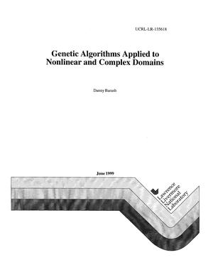 Primary view of object titled 'Genetic algorithms applied to nonlinear and complex domains'.