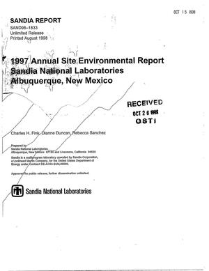 Primary view of object titled '1997 Annual Site Environmental Report Sandia National Laboratories Albuquerque, New Mexico'.