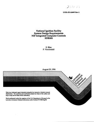 Primary view of object titled 'National Ignition Facility system design requirements NIF integrated computer controls SDR004'.