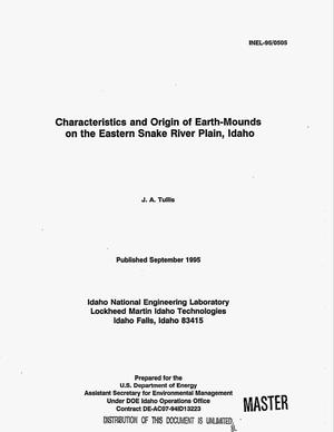 Primary view of object titled 'Characteristics and origin of Earth-mounds on the Eastern Snake River Plain, Idaho'.