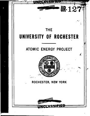 Primary view of The University of Rochester Atomic Energy Project quarterly report, April 1, 1950--June 30, 1950