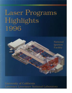 Primary view of object titled 'Laser programs highlights 1996'.