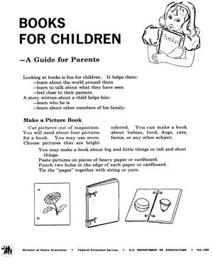 Primary view of object titled 'Books for children: a guide for parents.'.