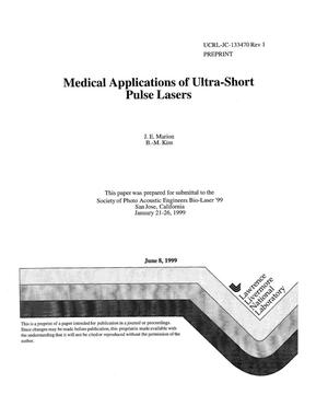 Primary view of object titled 'Medical applications of ultra-short pulse lasers'.