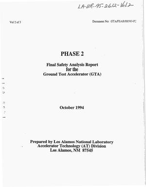 Primary view of object titled 'Final safety analysis report for the Ground Test Accelerator (GTA), Phase 2'.