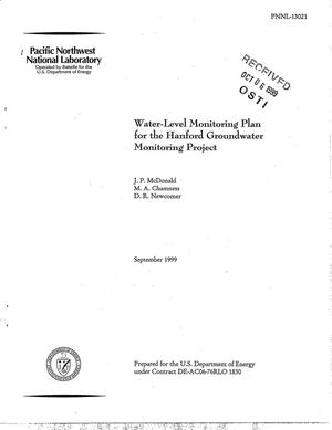 Primary view of object titled 'Water-Level Monitoring Plan for the Hanford Groundwater Monitoring Project'.