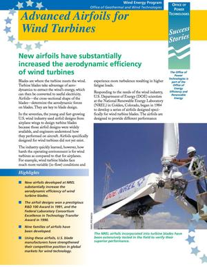 Primary view of object titled 'OUT Success Stories: Advanced Airfoils for Wind Turbines'.
