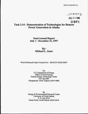 Primary view of object titled 'Task 3.14 - Demonstration of Technologies for Remote Power Generation in Alaska'.